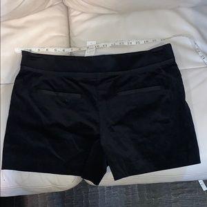 NWT black velvet shorts Ann Taylor Loft 12